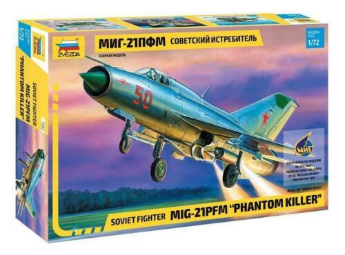 Zvezda 7202 Soviet Fighter MIG-21 PFM Phantom Killer  1:72  NEW MODEL 2019!!!