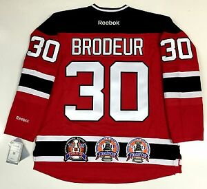 MARTIN BRODEUR 3X STANLEY CUP CHAMPION NEW JERSEY DEVILS REEBOK ... a03470842
