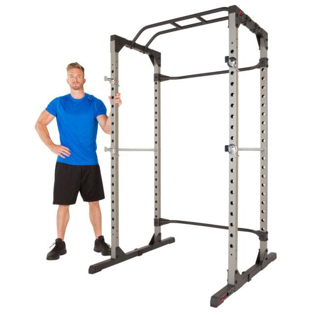 Fitness Reality 810XLT Power Cage Squat Rack Kraftstation Klimmzug Käfig Homegym