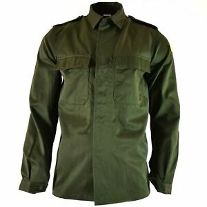 Genuine-Belgian-army-field-jacket-military-BDU-olive-shirt-military-combat-NEW