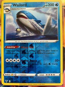 Pokemon Card WAILORD Reverse Holo Rare 032//185 VIVID VOLTAGE *MINT* 32//185