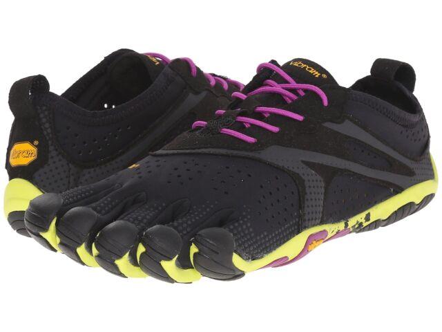 Vibram V Run Five Finger Black Yellow Purple Women's Running Shoes
