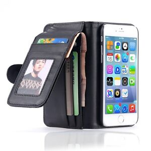 los angeles 67a4e 80f93 Details about Magnetic Wallet Leather Card Flip Pouch Folding Case Cover  For iPhone Samsung