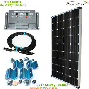 Monoplus Complete Kit Solar 150w 150 Watt Panel For 12v