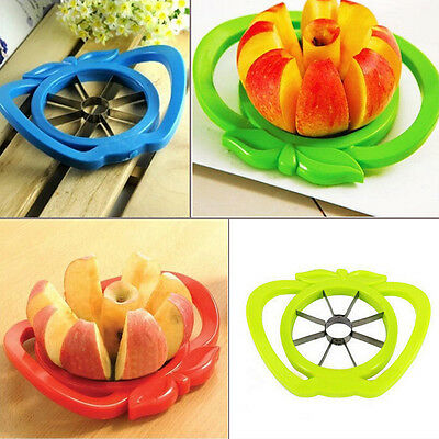 New Apple Slicer Corer Wedger Fruit Cutter Stainless Steel Kitchen Metal Tool