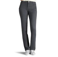 Women's Lee Classic Fit Straight Leg Pants Color Carbonite Size 6 Short