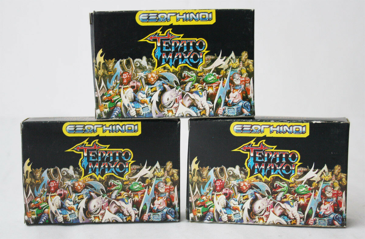 1X VERY RARE VINTAGE 80'S GREEK BATTLE BEASTS BOX EL EL EL GRECO NEW OLD STOCK 02b89f
