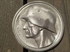 """SCIARPA d'onore - > """"in avanti con Dio"""" in rilievo - > Wehrmacht Soldato 15x15cm in metallo fuso"""