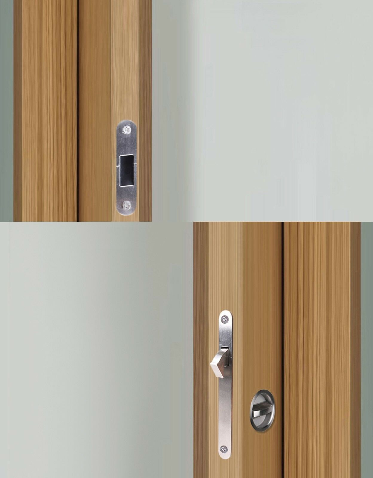 Stainless Steel Invisible Pocket Sliding Door Gate Cup Handle Lock