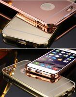 Thin Premium Metallic Aluminium Mirror back bumper case for iPhone 5 6 PLUS