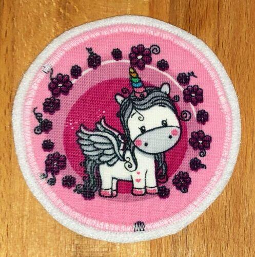 Applikation Aufnäher Knieflicken Flicken Hosenflicken Unicorn Pony rosa mint
