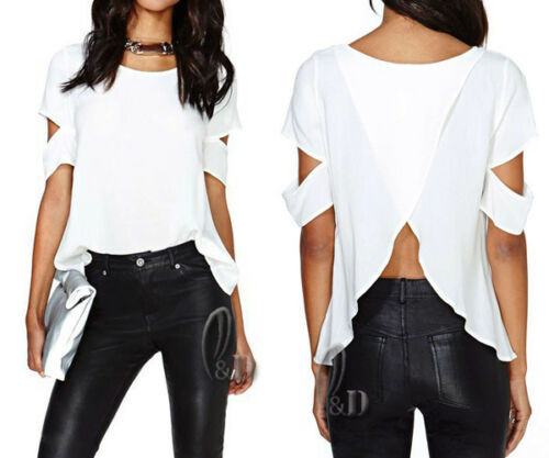 AU STOCK LADIES CASUAL OFF SHOULDER TOP BLOUSE SHIRT BASIC TEE T131