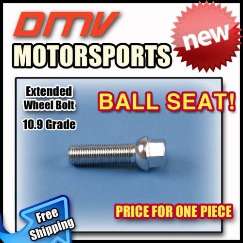Silver Ball Longer Extended Wheel Bolts LugsMINI12x1.540MM Thread