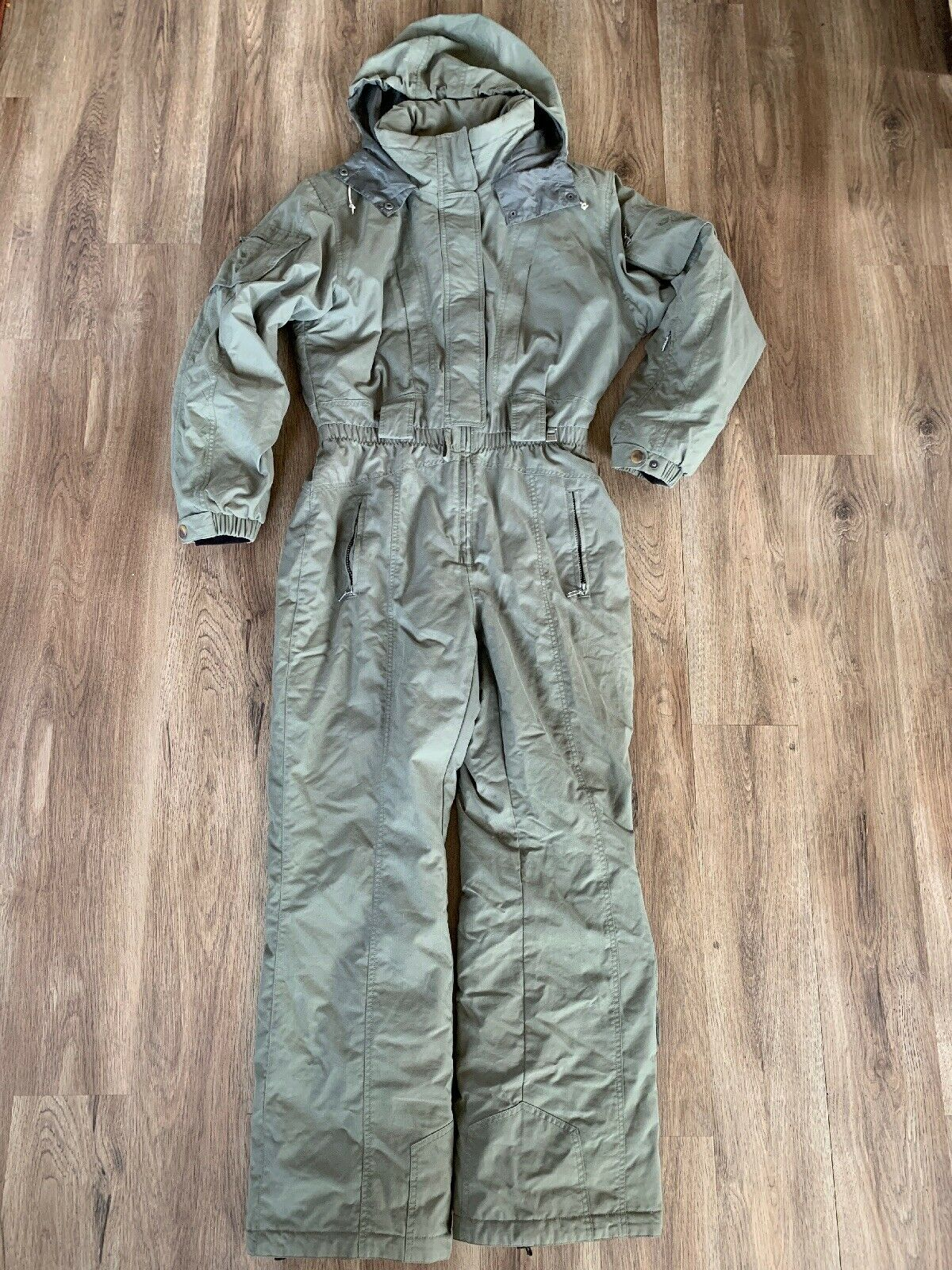 NILS Women's Green One Piece Insulated Ski Suit Snowsuit Size M L VGUC