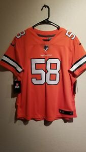 the latest bda10 08bab Details about New Women's Von Miller Denver Broncos Nike Color Rush Limited  Jersey - Size M