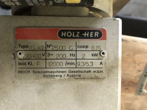 ELTE PE3 14//2 12000 rpm from Holz Her Sprint 1417 Edgebander
