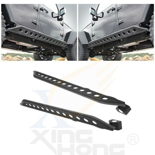 All 4 Door Armor Sliders Side Rocker Guard Nerf Bar for 07-17 Jeep JK Wrangler