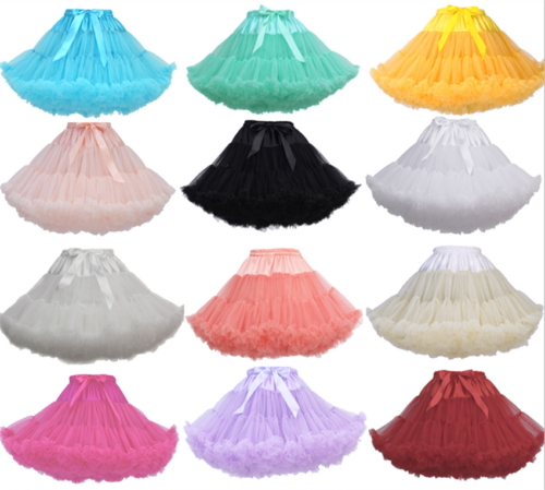 2021 Neu Damen Petticoat Unterrock Rockabilly Tutu Röcke Swing Tanzen Kleid !