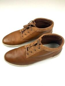 LACOSTE-Fairbrooke-SRM-Mens-Leather-Chukka-Boots-Size-11-5-US-Brown