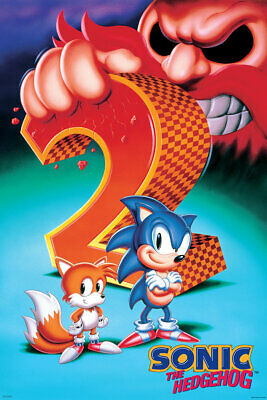 Sega Sonic The Hedgehog 2 Poster New 24x36 Free Shipping Ebay
