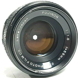 Fujifilm-Fuji-Fujinon-55mm-f1-8-Prime-Lens-m42-mit-Kappen-UK-Schnelle-Post