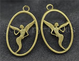 New-10-40-200pcs-Antique-Bronze-Elf-angel-girls-Jewelry-Charms-Pendant-28x17mm