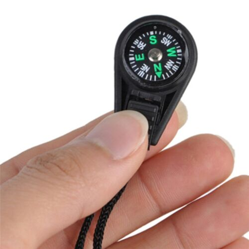 4Pcs EDC Gear Survival Compass Outdoor Camping Hiking Pocket Keychain Compass#