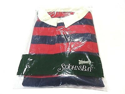 Dutiful New Sealed St Shirts John's Bay Striped Short Sleeve Polo Shirt Men's Size 58/60 High Standard In Quality And Hygiene