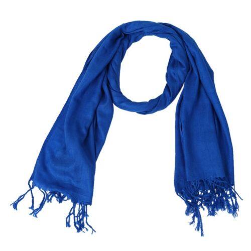 Winter Frauen Pashmina Schal Quaste Schal Fransen Marineblau W1X4