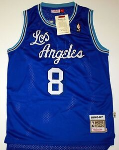 12a26c3f6 ... Image is loading KOBE-BRYANT-Throwback-Swingman-Basketball-Jersey-8  AUTHENTIC ADIDAS DEREK FISHER LOS ANGELES LAKERS Stitched JERSEY SZ 2XL ...