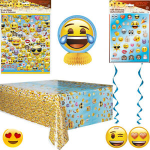 Image Is Loading Fun Emoji Party Supplies Loot Bag Banner Tablecover