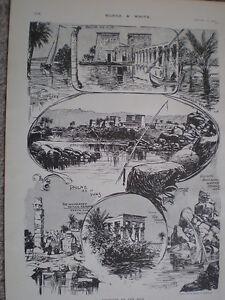 Bocetos-sobre-el-Nilo-voluntaria-Nubia-Egipto-1903-Impresiones-Antiguas
