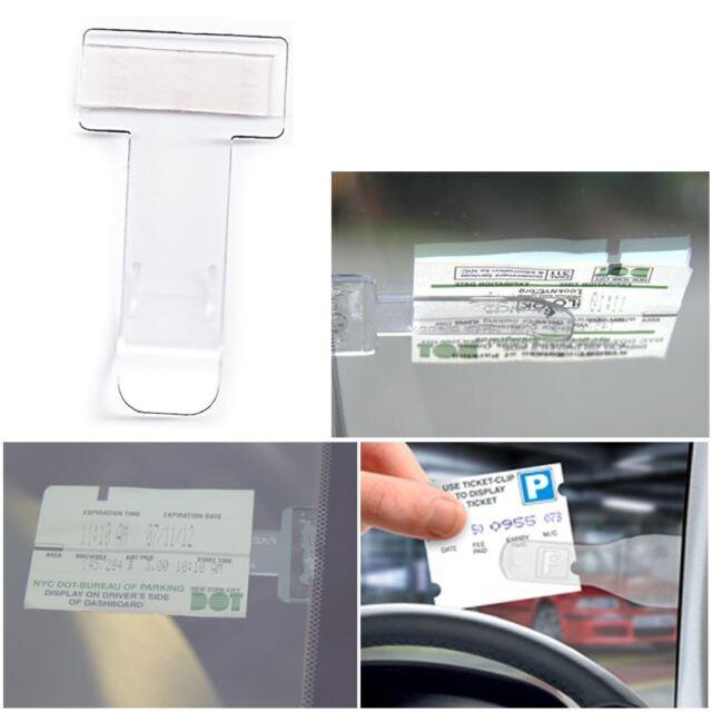 1x Car Vehicle Motorhome Truck Windscreen Parking Ticket Clip Holder Work Pass