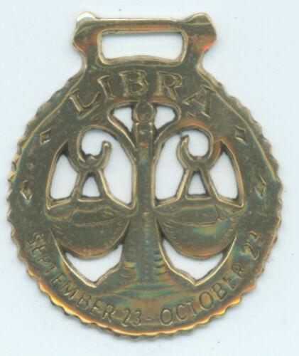 N743 LIBRA  Astrology horse brass
