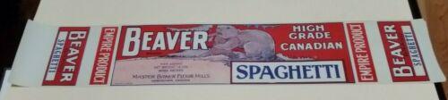Beaver Brand Canadian Spaghetti Empire Master Baker Flour Mills Vancouver Label