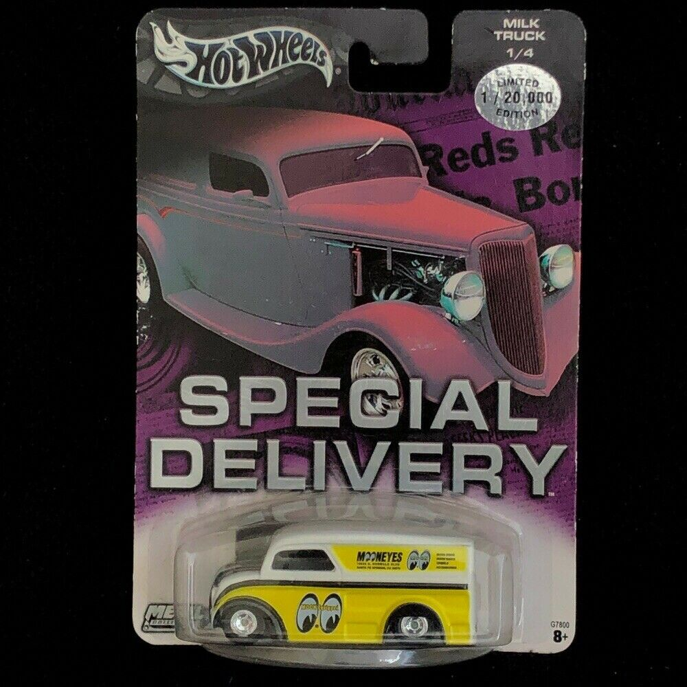 Hot Wheels Special Delivery DAIRY DELIVERY 1 20, 000 MOONEYES JAUNE TOIT RARE