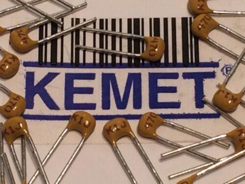 KEMET BEST QUALITY MULTI LAYER CERAMIC CAPACITOR 3300pF 100V X7R  x5    fbb26.11