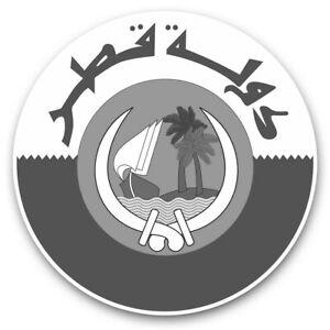 2-x-adesivi-in-vinile-10cm-BW-Bandiera-Qatar-Doha-viaggio-Arab-40197