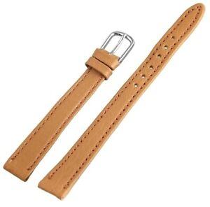 Echtleder-Ersatzarmband-Uhrenband-Braun-10-mm-Ersatzband-X-813276760110