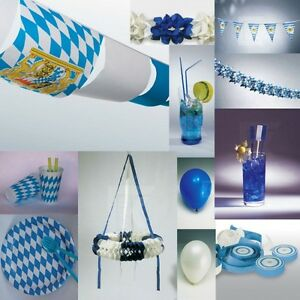 oktoberfest deko blau weiss party bavaria bayern raute. Black Bedroom Furniture Sets. Home Design Ideas