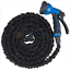 Latex-25-50-75-100-FT-Expanding-Flexible-Garden-Water-Hose-with-Spray-Nozzle thumbnail 2