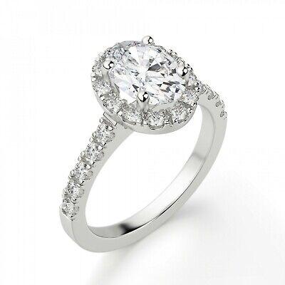 1.20 Ct Diamond Engagement Wedding Ring 925 Silver White Gold Finish Size 5 6 7