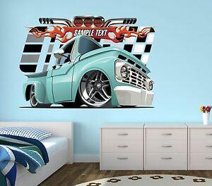 Monster Truck Wall Decal Boys Bedroom Art Decor Racing ...