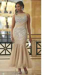 fb500eb12e Image is loading size-12-Golden-Beaded-Diana-Gown-by-Ashro-
