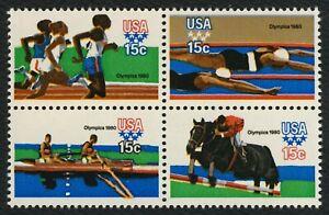 #1794a 15c 1980 Verano Olimpiadas, Se-Tenant Bloque, Nuevo Cualquier 5=