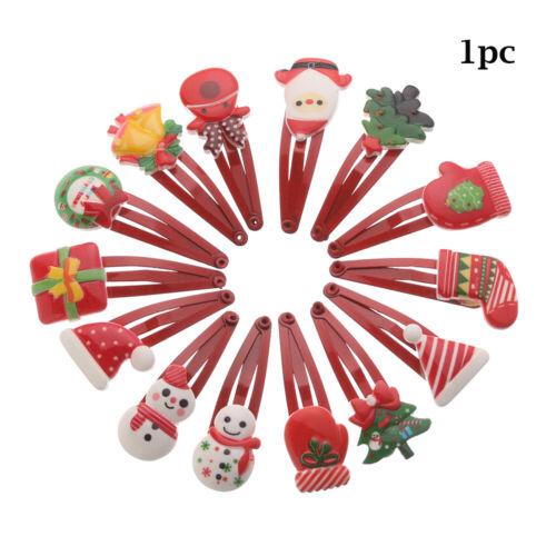 Adorable Baby Girl Candy Hairpin Children Christmas Pattern Cartoon Hair Clip