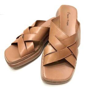 Bare-Traps-Womens-9-5-M-Melinda-Leather-Upper-Square-Toe-Sandals