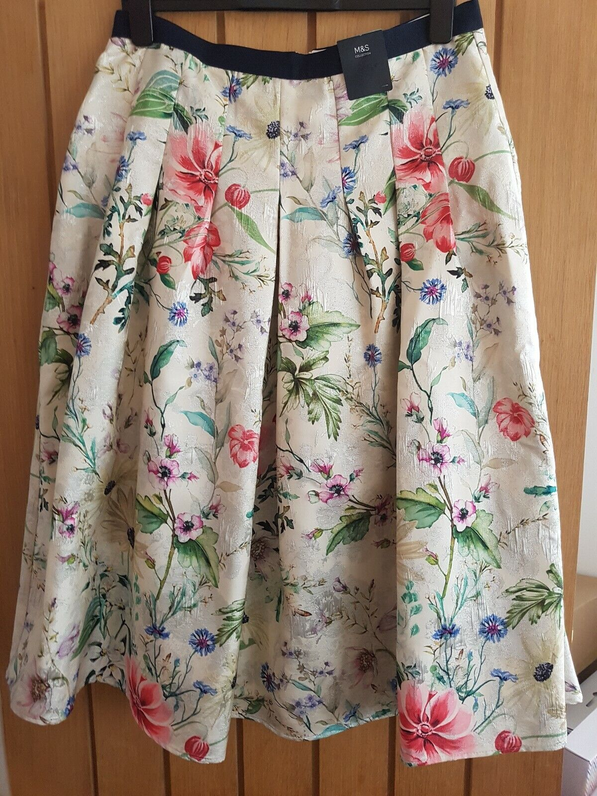 Marks And Spencer Pleated Floral Skirt Bnwt  wedding party skirt size 14
