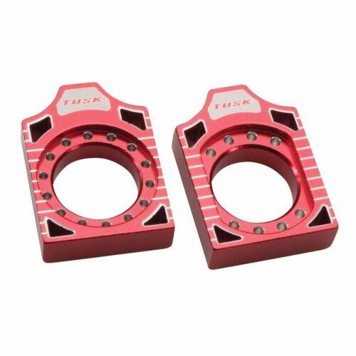 Tusk Axle Block Red CRF250R CRF450R