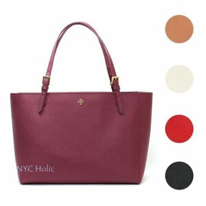 fb2604a896bd Image is loading Tory-Burch-York-Buckle-Tote-Large-Saffiano-Leather-